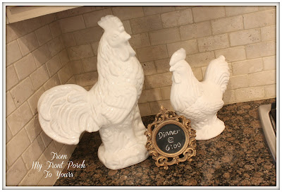 French Farmhouse Kitchen- French Country Roosters- Kitchen Accessories