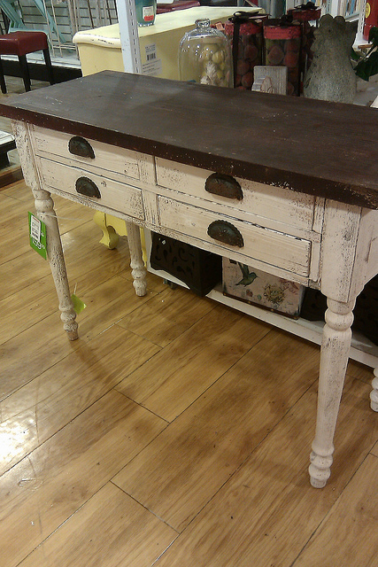 although not the same turned leg style or cup pull hardware the console table i did find u0026 refinish is very similar to the one above itu0027s just enough