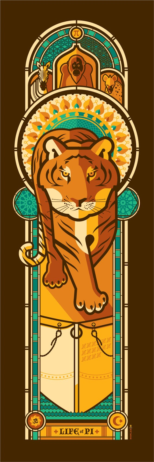 poster: Life of Pi - design de Tom Whalen
