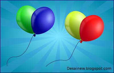 Tutorial atau cara membuat desain vektor balon di inkscape