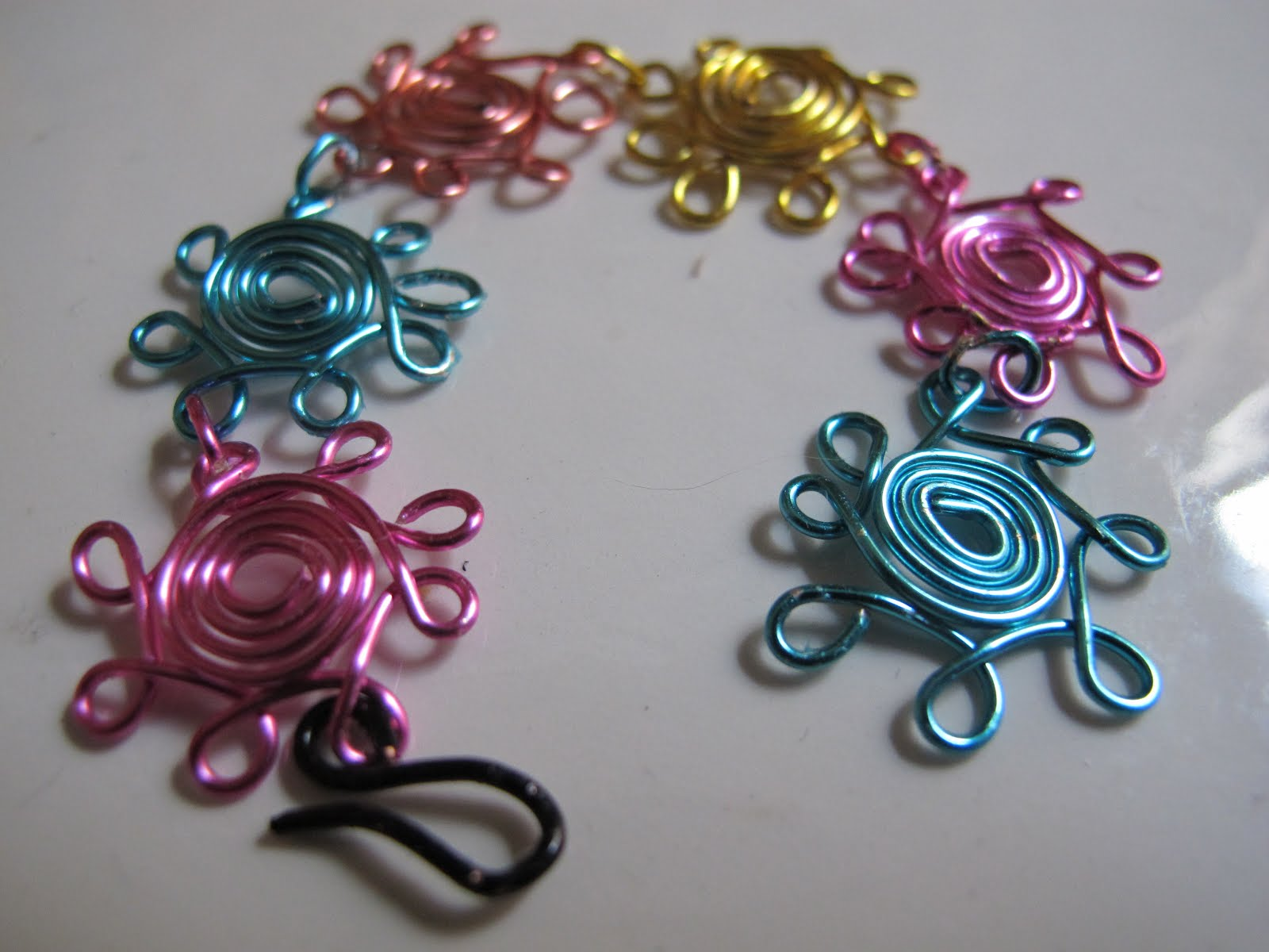 Naomis Designs Handmade Wire Jewelry Colorful rainbow wire