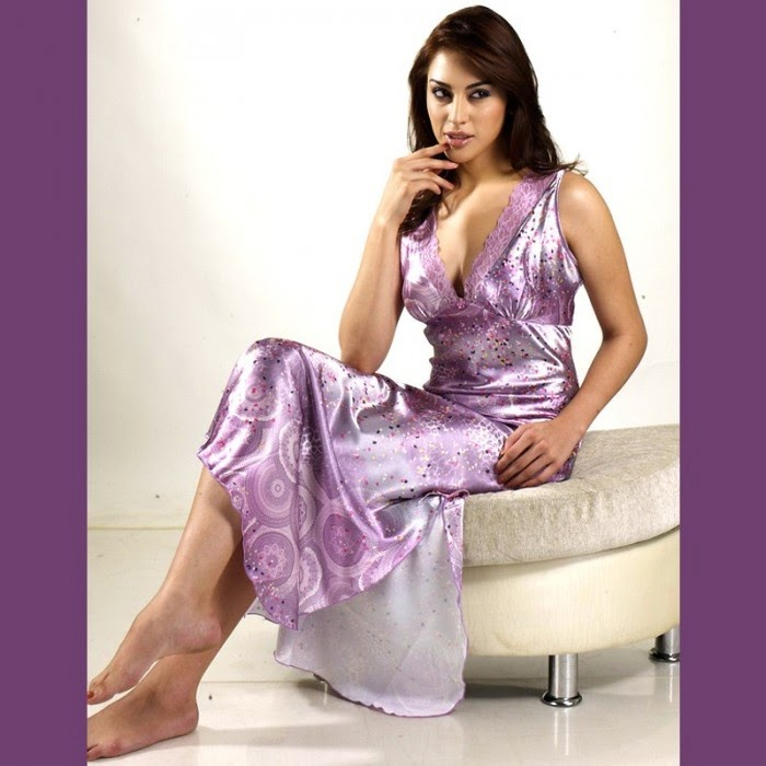 hot satin nightgown collection 2014