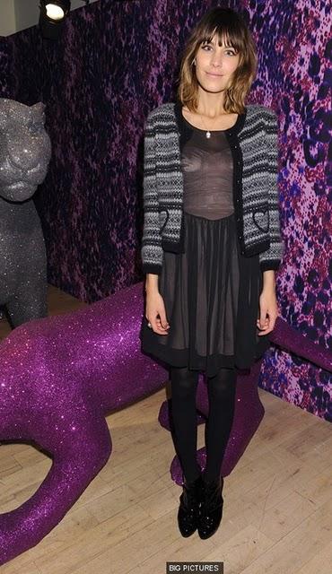 alexa chung wearing cardigan