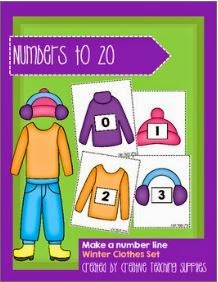 http://www.teacherspayteachers.com/Product/Make-a-Number-Line-Numbers-to-20-Winter-Clothes-Set-1302876