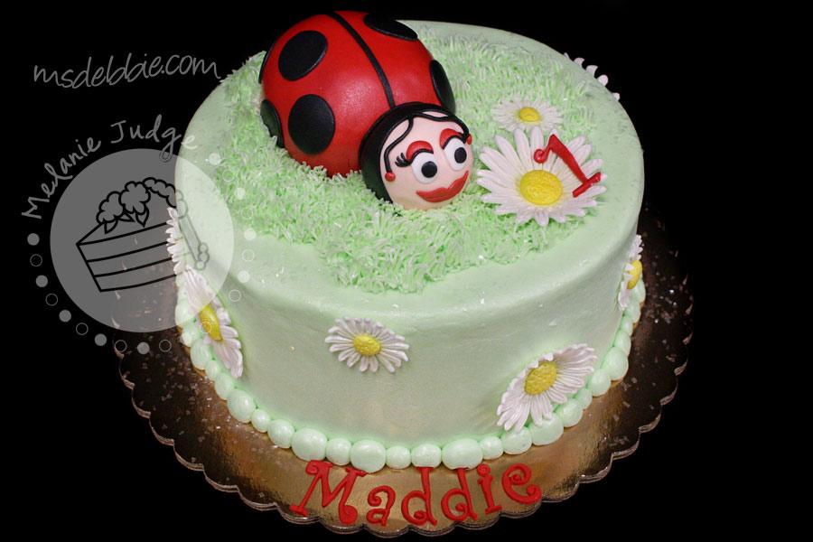 Cake Walk Ladybug 1st Birthday Cake