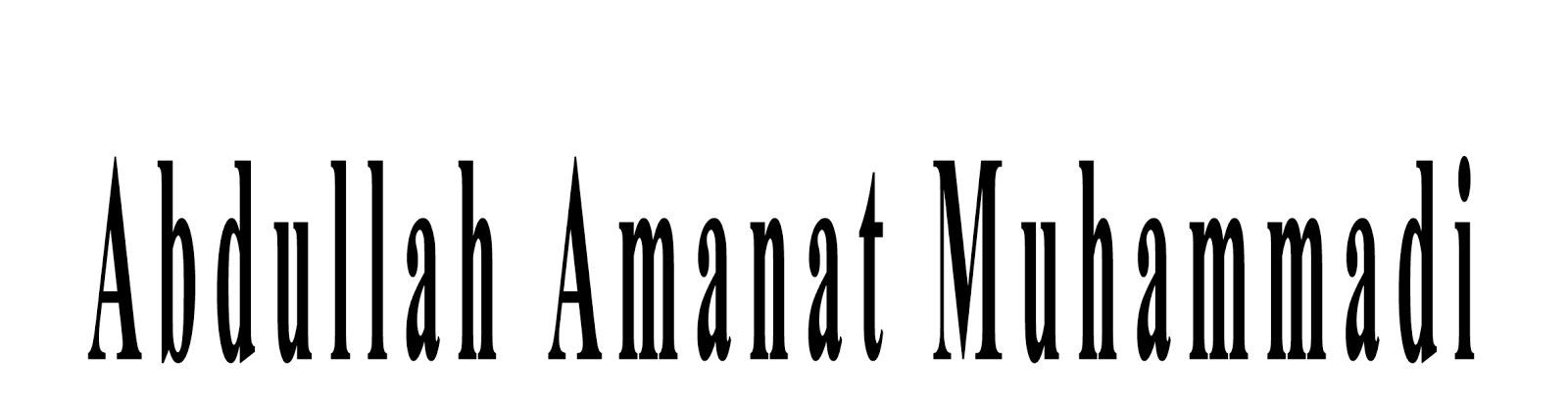 Abdullah Amanat Muhammadi