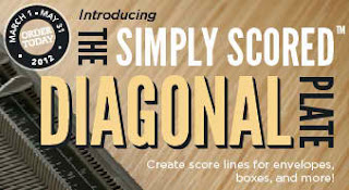 Image of Stampin'UP!'s new Diagonal Plate for the Simply Scored scoring tool