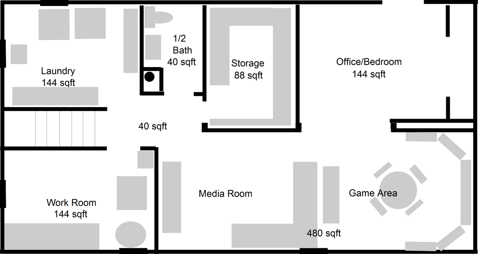 Basement floorplan ideas images frompo 1 for Basement planner online
