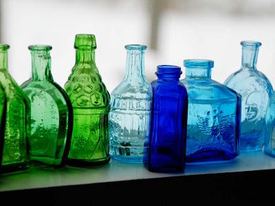azul e verde wheaton garrafas Bitter