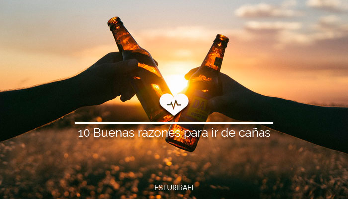 Beneficios de la cerveza, puesta de sol, brindis
