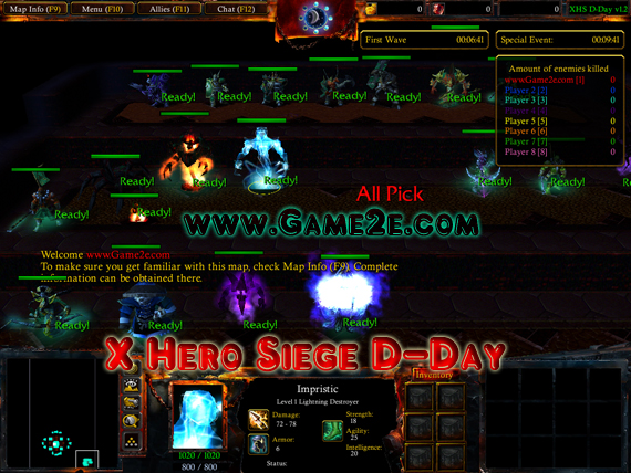 download map 10 hero siege