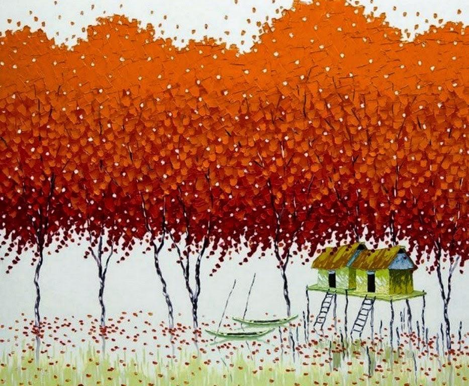 cuadros-de-paisajes-modernos-con-arboles
