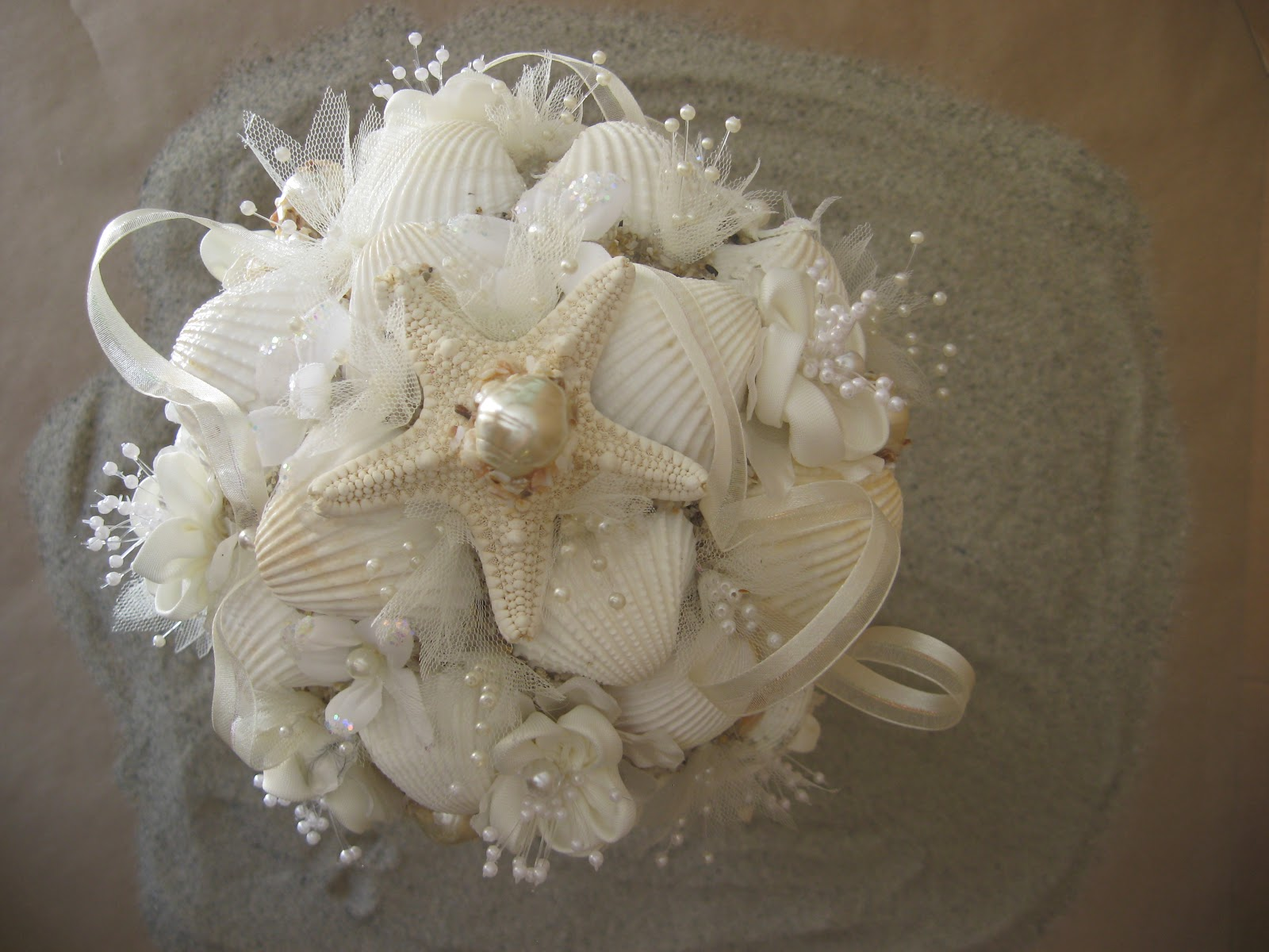 Oh One Fine Day Seashell Wedding Bouquets