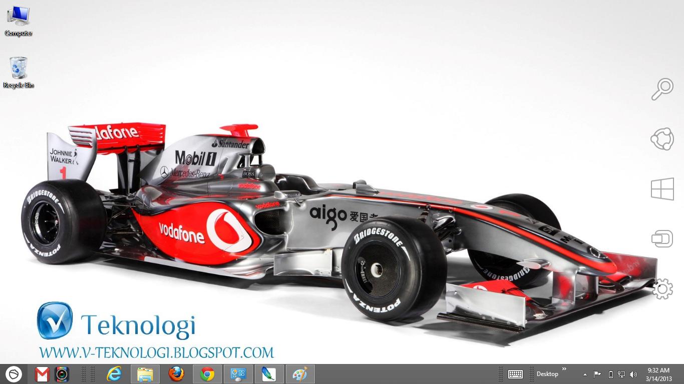 Lewis Hamilton Formula 1 Windows 7 And 8 Theme