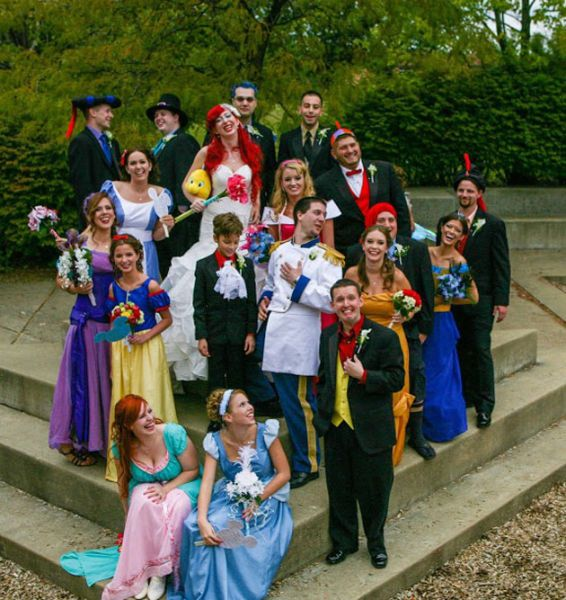 Disney Themed Wedding Damn Cool Pictures