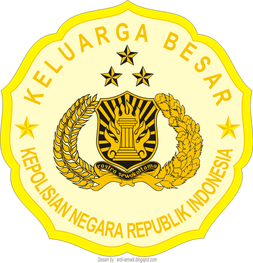 Gambar Logo Stiker Polri Kepolisian Negara Republik Indonesia