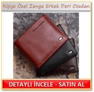 Kişiye özel isim yazılı gerçek deri cüzdan
