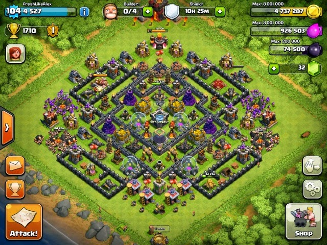 Clash clans townhall hybrid base apps directories