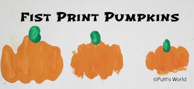 Fist Hand print Pumpkins