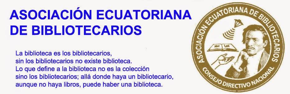 ASOCIACIÓN ECUATORIANA DE BIBLIOTECARIOS