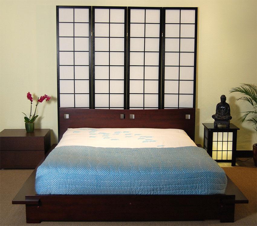 Camas en el piso al estilo oriental decoracion de salas - Habitacion estilo zen ...