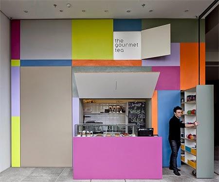 Decoracao colorida, loja, decoracao, cores, parede pintada