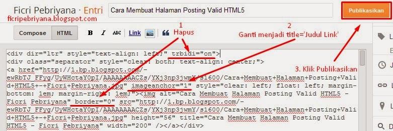 Cara Membuat Halaman Posting Valid HTML5 1