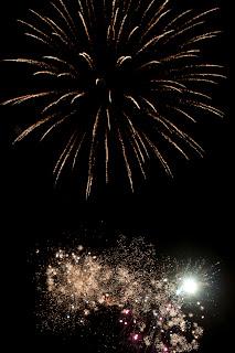 Fireworks Porth beach Newquay