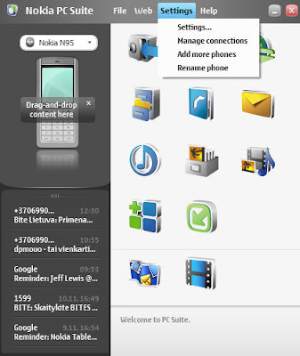 Latest Nokia PC Suite Screenshot