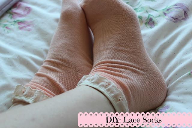 diy lace socks