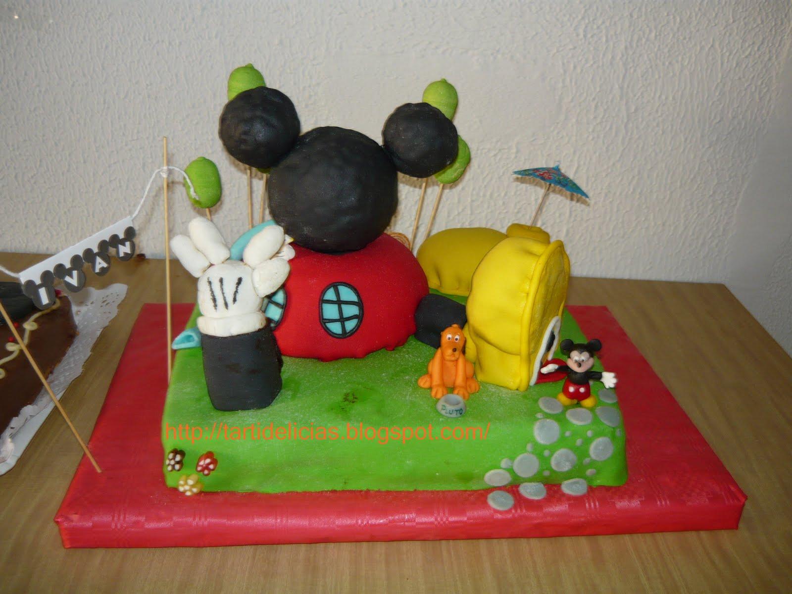Tartidelicias: Tarta La Casa de Mickey Mouse y más...