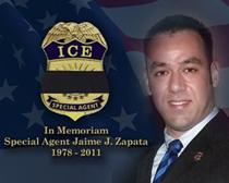ICE recuerda caído el agente especial Jaime Zapata