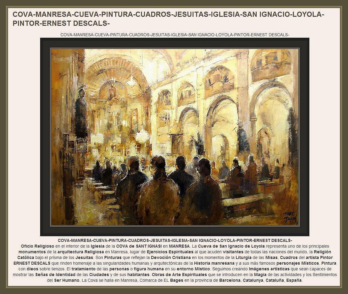 COVA-MANRESA-PINTURA-CUEVA-JESUITAS-CUADROS-PINTOR-ERNEST DESCALS