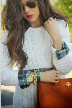 Stylish White Sweater With Black Shades