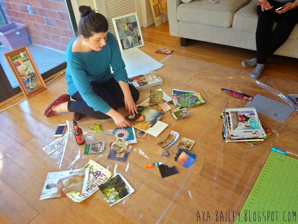Craft Club: Glueing down scraps for collage