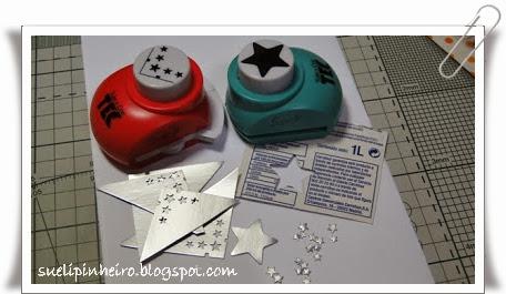 tarjeta navidad alterado con cajas de leche