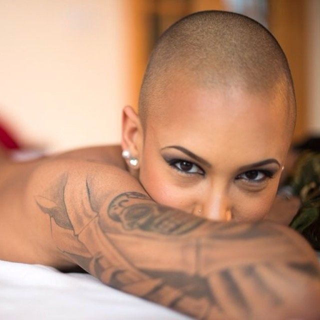 Sexy girl shaved head really