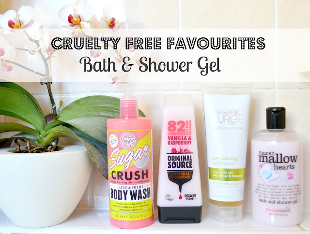 A run-down of my favourite cruelty-free, vegan bath and shower products ft. Soap & Glory, Organic Surge, Treacle Moon and more