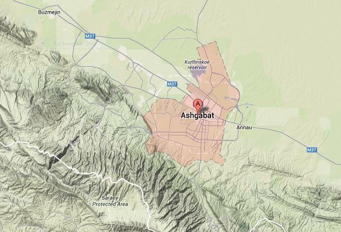Turkmenistan S Capital City Lies Along The