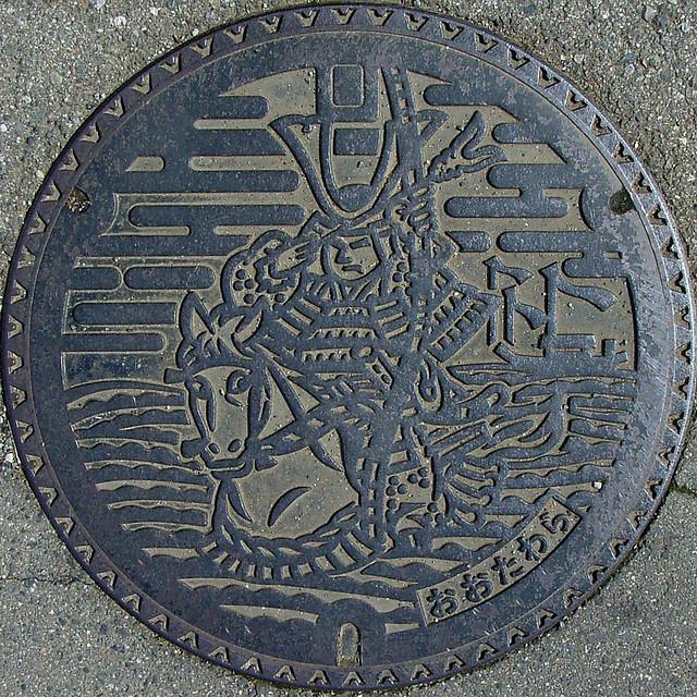 Arte nipón en el mobiliario urbano Manhole+japan+cover+17