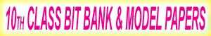 X Class bit bank English and Telugu Medium Model Papers