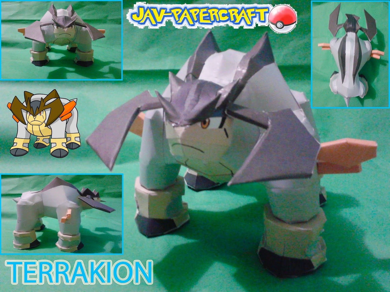 Pokemon Terrakion Paper Model