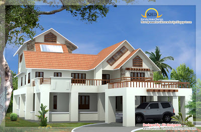 Beautiful Luxury 3 Storey Home Elevation - 536 Square Meter (5774 Sq. Ft.) - November 2011