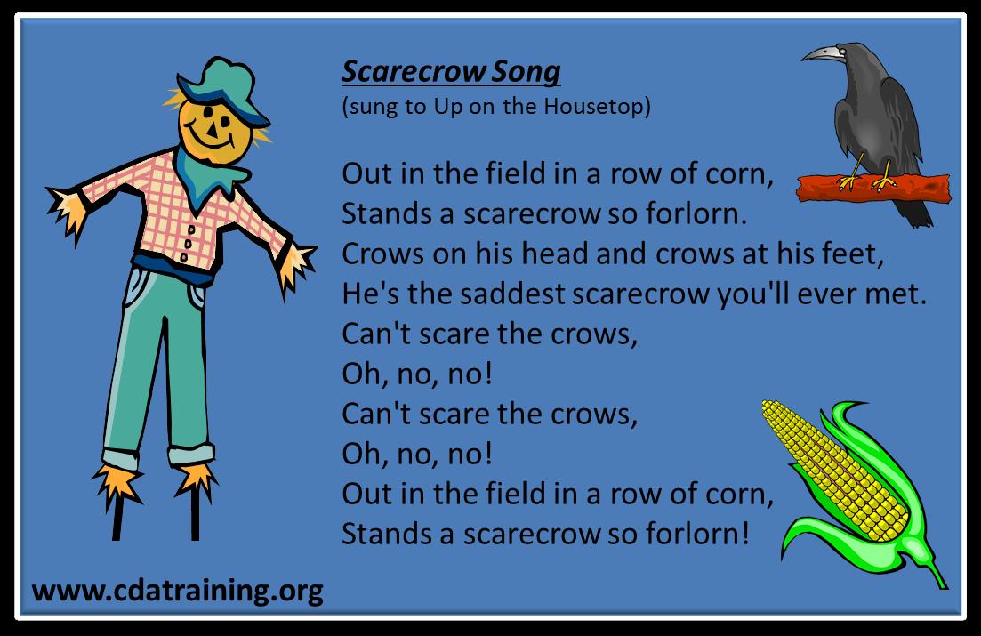 Classroom Decor Preschool ~ Child care basics resource scarecrow songs