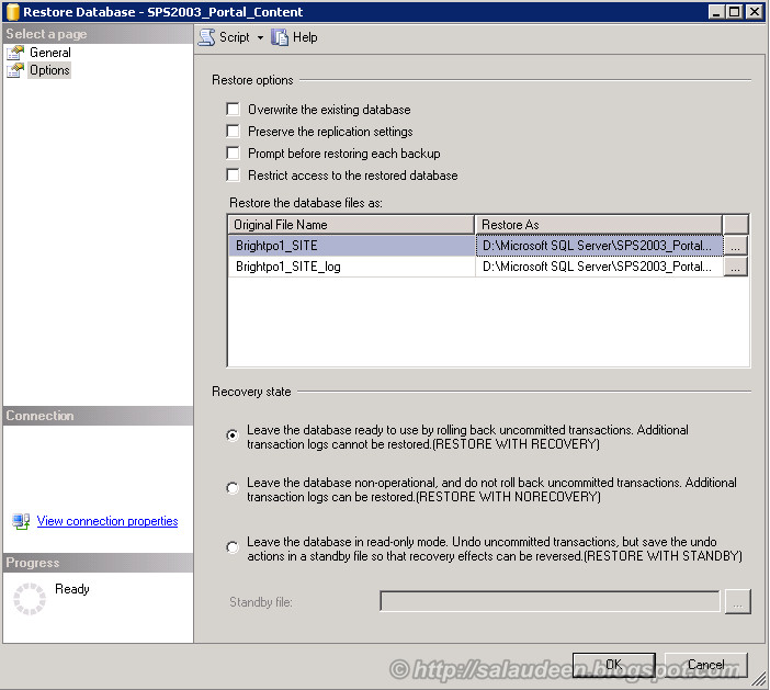 restore sharepoint 2003 to sharepoint 2007