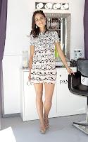 Jordana Brewster leggy in a mini dress