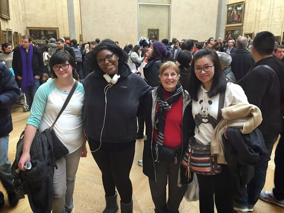 The group at the Louvre Museum. .