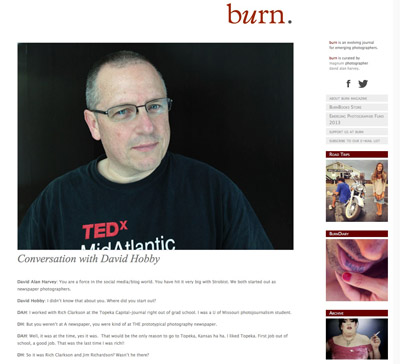 Interview with Burn Magazine