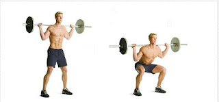 Barbell Squats | 3 Set 10-12 Repetisi