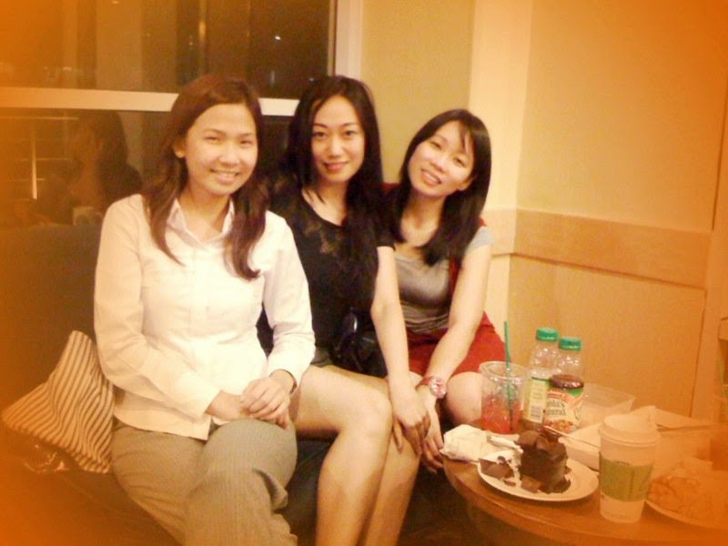 Trisha Sebastian with Mabel Lim and Sharon Aytona